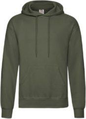 Fruit of the Loom capuchon sweater olijfgroen voor volwassenen - Classic Hooded Sweat - Hoodie - Heren kleding XL (EU 54)