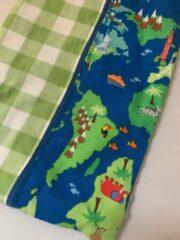 Popjes & Zo luiermapje - luier etui - around the world - blauw groen