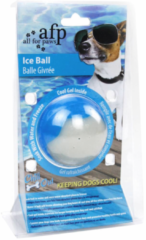 All For Paws Chill Out Ice Ball - Hondenspeelgoed - Ø9 cm Blauw Wit