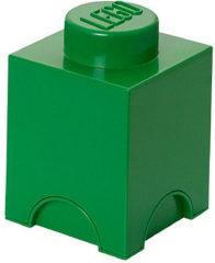 Donkergroene Lego Storage brick - Donker groen - 12,5 cm x 12,5 cm - 18 cm - 1L2