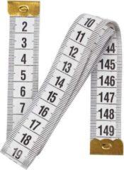 Merkloos / Sans marque Meetlint 150 cm wit - 1,5 meter - Flexibel - Lintmeter - Naaigereedschap/naaibenodigdheden - Fournituren - Kledingmaker