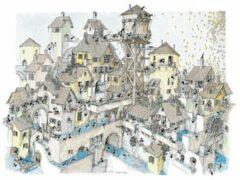 Akena Italy Legpuzzel Stad van water getekend door Fabio Vettori 1080 stukjes