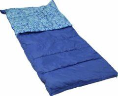 Blauwe Polydaun Beach house - kinderslaapzak - junior blue - 70x160 cm