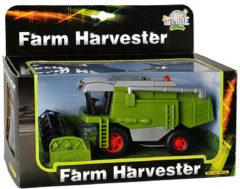 Groene Kids Globe Farming Metalen Combine met licht en geluid - Speelgoedvoertuig: 12x26x15 cm