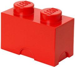 Rode LEGO Opbergbox Brick 2 - Polypropyleen - 25x12,5x18 cm