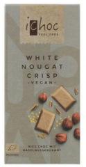 Ichoc White nougat crisp vegan 80 Gram