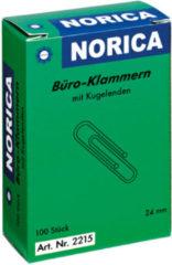 Paperclips Norica 24mm verzinkt met kogeleind doos a 100 stuks