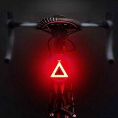 Rode DESO® Fietslicht Achterlicht LED USB Oplaadbaar Helder Super Fel Driehoek - Achterlicht voor Racefiets en MTB – Herkenningslicht