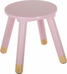Atmosphera for kids Atmosphera kinderkrukje roze voor aan een kleine kindertafel - kinderstoel - krukje - bijpassende tafel ook te verkrijgen bij ons (BEAU By Bo) - houten stoel voor kinderen
