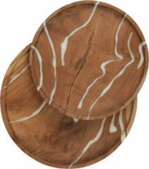 Bruine D-Bodhi Must Living dienblad Cream, set van 2
