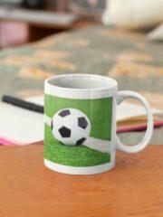 Groene Kimano Voetbalmok met afbeelding voetbalveld en eigen naam (DOORGEVEN PER MAIL )