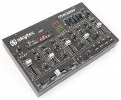 Zwarte Skytec Vonyx STM2290 Mengpaneel 8 kanalen met Bluetooth en mp3 speler