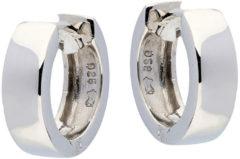 Best Basics Zilveren Klapcreolen Vierkante buis 4 mm. Buitenmaat 14 mm. 107.0262.14