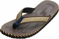 Bruine Yoga sandalen mannen - brown 44 Slippers YOGISTAR