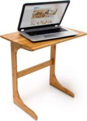 Relaxdays Laptop Beistelltisch Bambus