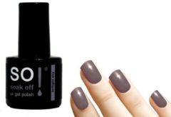 Grijze So! Soak Off - Gel nagellak - Twilight Sky - 8ml