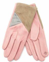 Dielay - Handschoenen met Vlakken - Dames - One Size - Touchscreen Tip - Roze