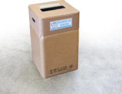 Naturelkleurige Afvalbox Hygiënebox voor desinfectie doekjes