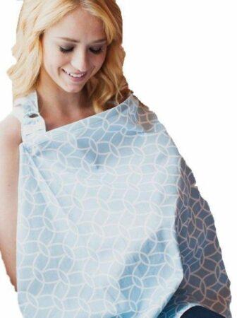 Afbeelding van Udder Covers Borstvoedingsdoek Sloane - Lichtblauw/Wit