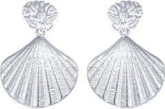 LGT JWLS LGT Jewels Damesoorbellen met Open Schelp Volledig Verguld in Zilver