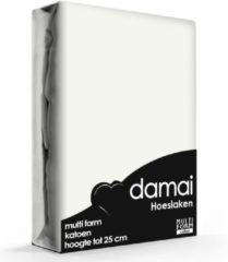 Licht-grijze Damai - Hoeslaken (tot 25 cm) - Katoen - 160/180 x 200/210 cm - Light grey
