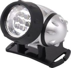 Qualu LED Hoofdlamp - Igia Heady - Waterdicht - 20 Meter - Kantelbaar - 7 LED's - 0.54W - Zilver | Vervangt 6W
