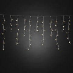Witte Konstsmide Kerstverlichting buiten - Snoerverlichting IJsregensnoer cherry LED 200 lampjes - 5 meter - Warm wit