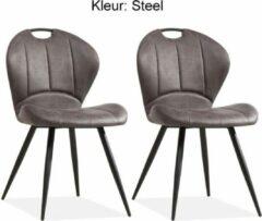 MX Sofa Eetkamerstoel Miracle kleur: Steel