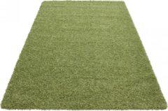 Himalaya Basic Shaggy vloerkleed Groen Hoogpolig- 80x250 CM