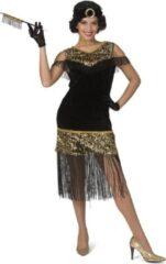 Funny Fashion Jaren 20 Danseressen Kostuum | Gouden Lovertjes Charleston Jaren 20 | Vrouw | Maat 40-42 | Carnaval kostuum | Verkleedkleding