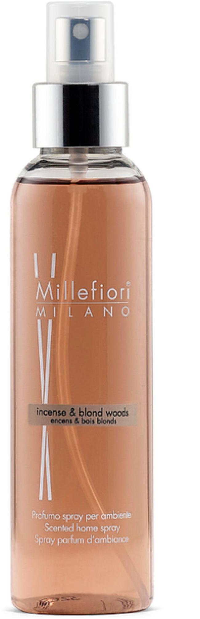 Afbeelding van Witte Millefiori Milano Navulling voor geurstokjes 500ml Incense & Blond Woods