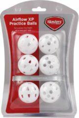 Masters Golf trainings-golfballen Airflow wit 6 stuks