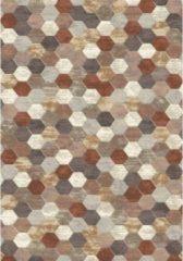 Eurogros Modern Vloerkleed - Amado 4848 - Bruin - Stijlvol - Honinggraad - Antislip - Geluiddempend - Anti allergie - Eenvoudig schoonmaken - Kleurrijk - Speels - Makkelijk te combineren