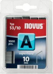 Nietjes type 53 1000 stuks Novus 042-0357 Klemtype 53/10 Afm. (l x b) 10 mm x 11.3 mm