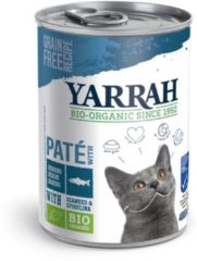 12x Yarrah Bio Pate In Blik Kattenvoer Vis 400 gr