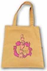 Anha'Lore Designs - Tribal - Exclusieve handgemaakte tote bag - Okergeel