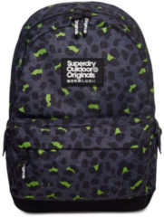 Superdry Montana Print Edition Backpack Animal Dark Marl Lime