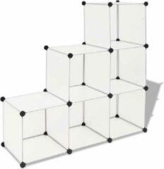VidaXL Opbergmeubel met 6 vakken wit