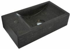 Antraciet-grijze Wiesbaden Lambini Designs Recto losse fontein 40x22cm natuursteen links