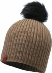KNITTED HAT BUFF - ADALWOLF BROWN TAUPE