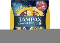 8x Tampax Compak Pearl Regular 18 stuks