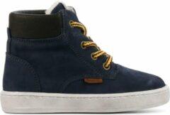 Develab 41855 hoge nubuck sneakers donkerblauw