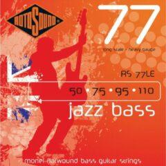Rotosound Bas snaren RS77LE 50 110 Flat Jazz bas 77, Monel Flatwound