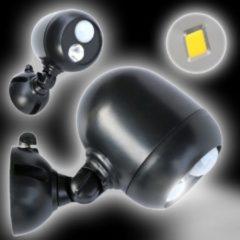 Zwarte Grundig Sensor LED Spot voor buiten 140 Lumen