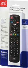Zwarte One For All URC4914 afstandsbediening TV Drukknopen