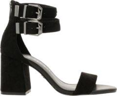 Supertrash Ayla sandalen met hak zwart - Maat 36