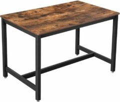 Zwarte Nancy's Eettafel voor 4 personen - Keukentafel - Industriële Tafel - 120 x 75 x 75 cm