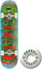 Blauwe Osprey Skateboard Double Kick Pro: Slime 79 Cm