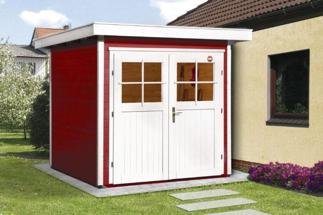 Afbeelding van Rode WEKA | Tuinhuis 227 | 205 x 209 cm | Zweeds rood