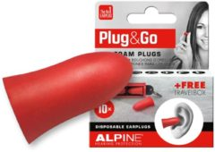 Rode Alpine Hearing protection Alpine - Plug & Go - Multifunctionele oordoppen - SNR 33 dB - 5 paar